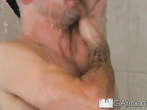 Twink is spying boyfriend in shower before joining him