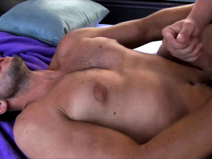 Alluring twink Chase Young is wanking off his cock