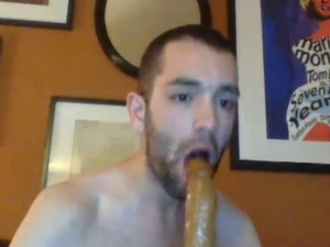 Nasty twink strokes and fucks his ass with dildo sex toy