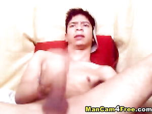 Teen gay cutie screams from passionate masturbation